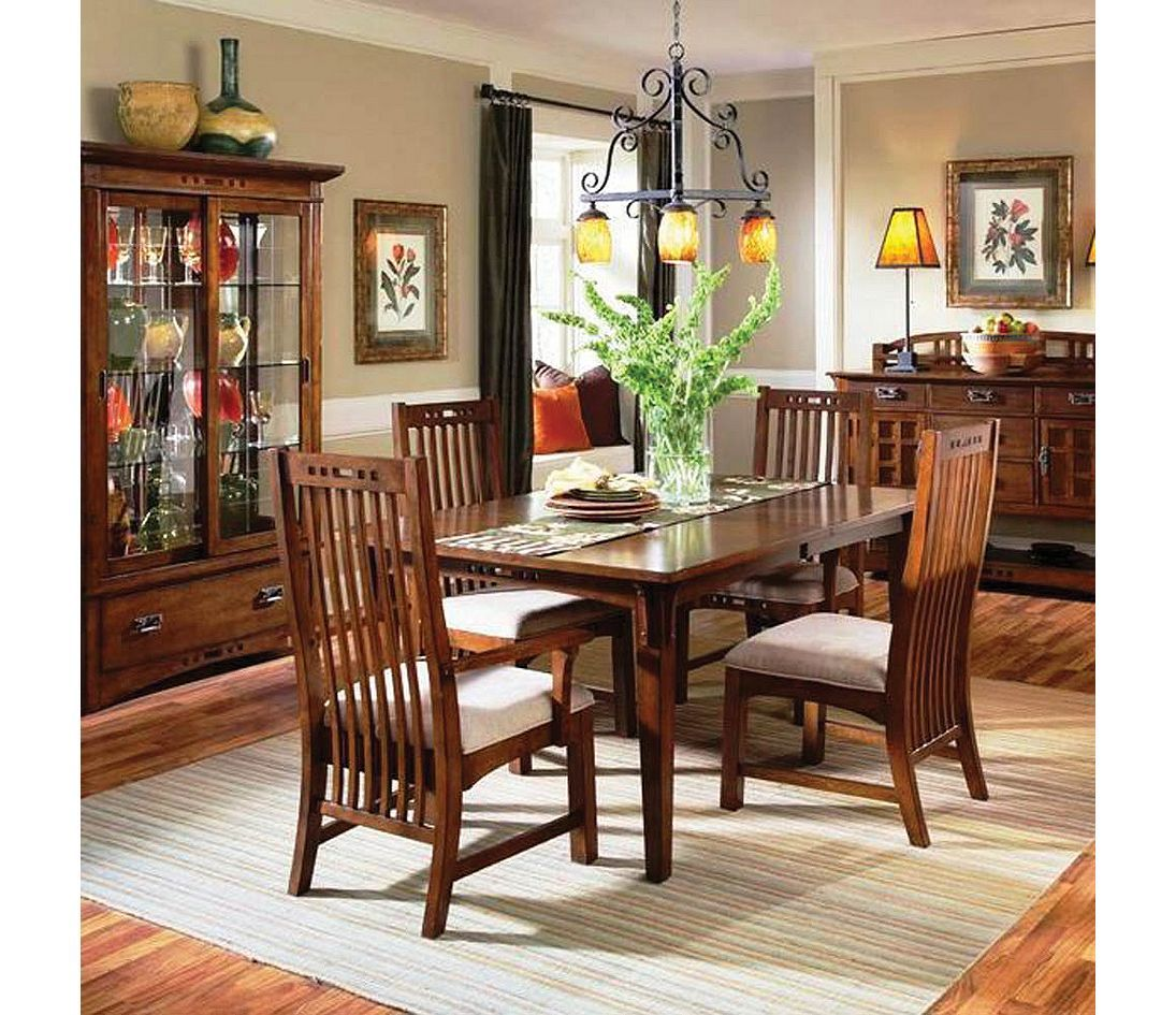 Best Broyhill Artisan Ridge 7 Piece Dining Set Traditional 400 x 300