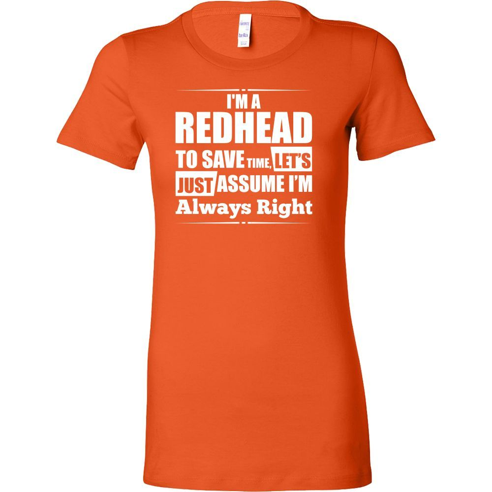 Hobbies - I m a redhead to save time - women short sleeve t shirt - TL00830WS