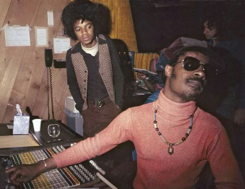 Mike and Stevie Wonder