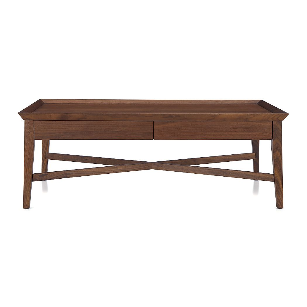 Bradley Coffee Table.Shop Bradley Walnut Coffee Table With Drawers The Coffee Table S