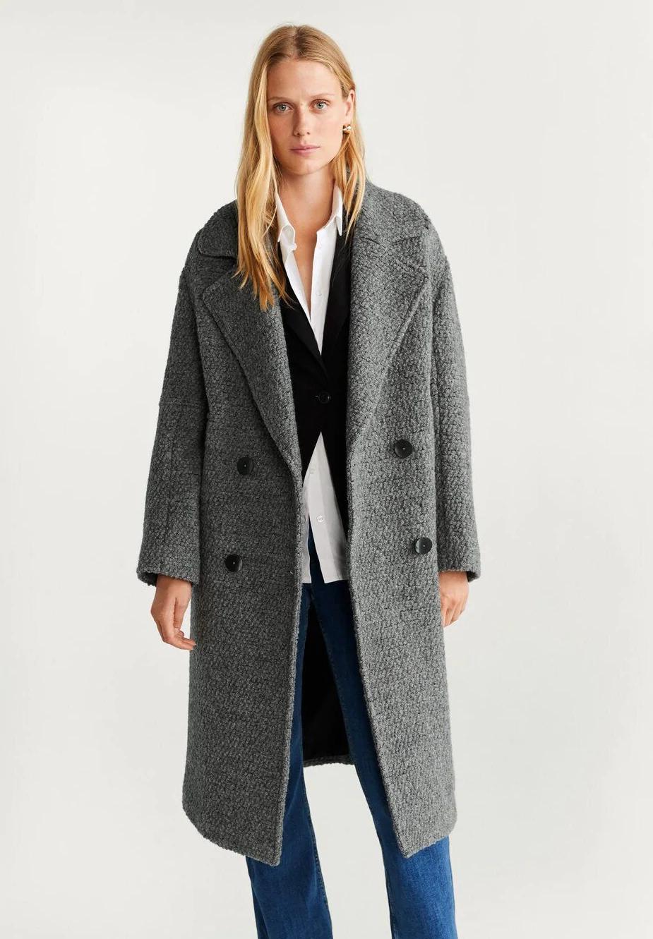 Mango TWIN Płaszcz wełniany Płaszcz klasyczny grey
