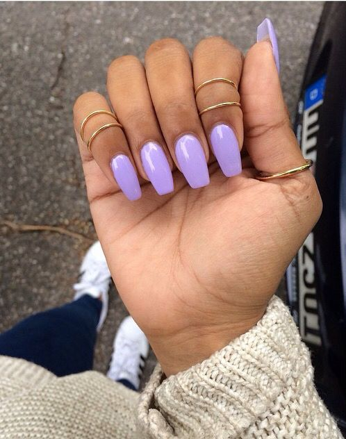 Pin By S A R A On Nails Purple Acrylic Nails Lavender Nails Short Acrylic Nails