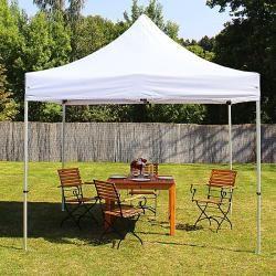 Photo of 3×3 m Faltpavillon Premium Stahl 32 mm, weiß Faltzelt, Klappzelt Toolport
