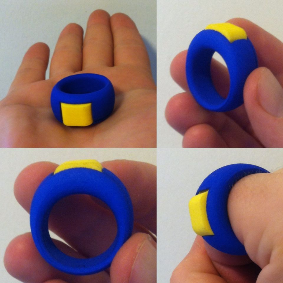 Clicker Ring 3d Printed Prototype Used For Dog And Animal