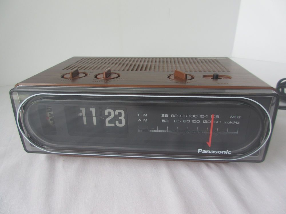 Vintage Am Fm Flip Clock Radio Panasonic Rc 6015 Back To