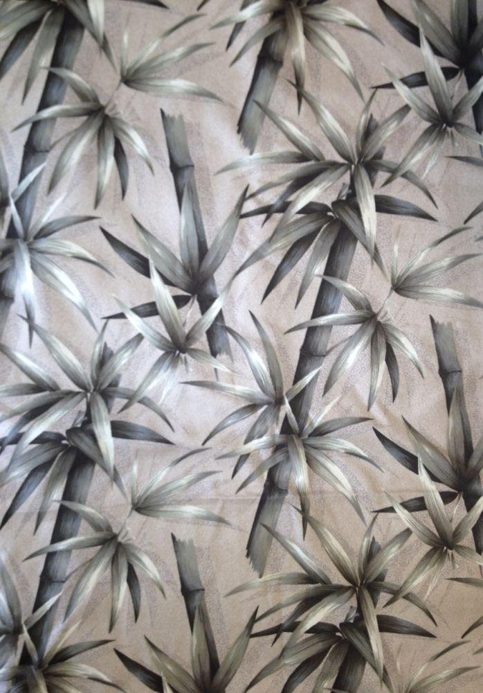 Vintage Style Barkcloth Fabric Modern Trendtex Hawaii Green Brown