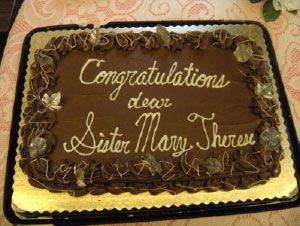 Sr. Mary Therese of St. Joseph 70th Anniversary Cake