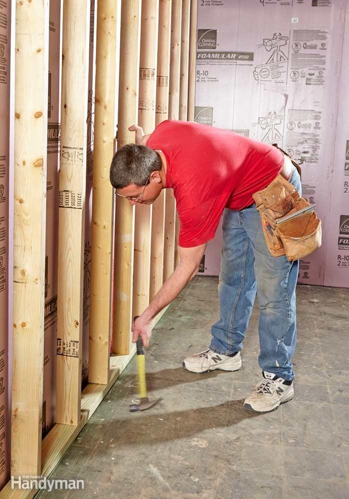 How to finish a basement wall basement walls basements for Finishing a basement step by step guide