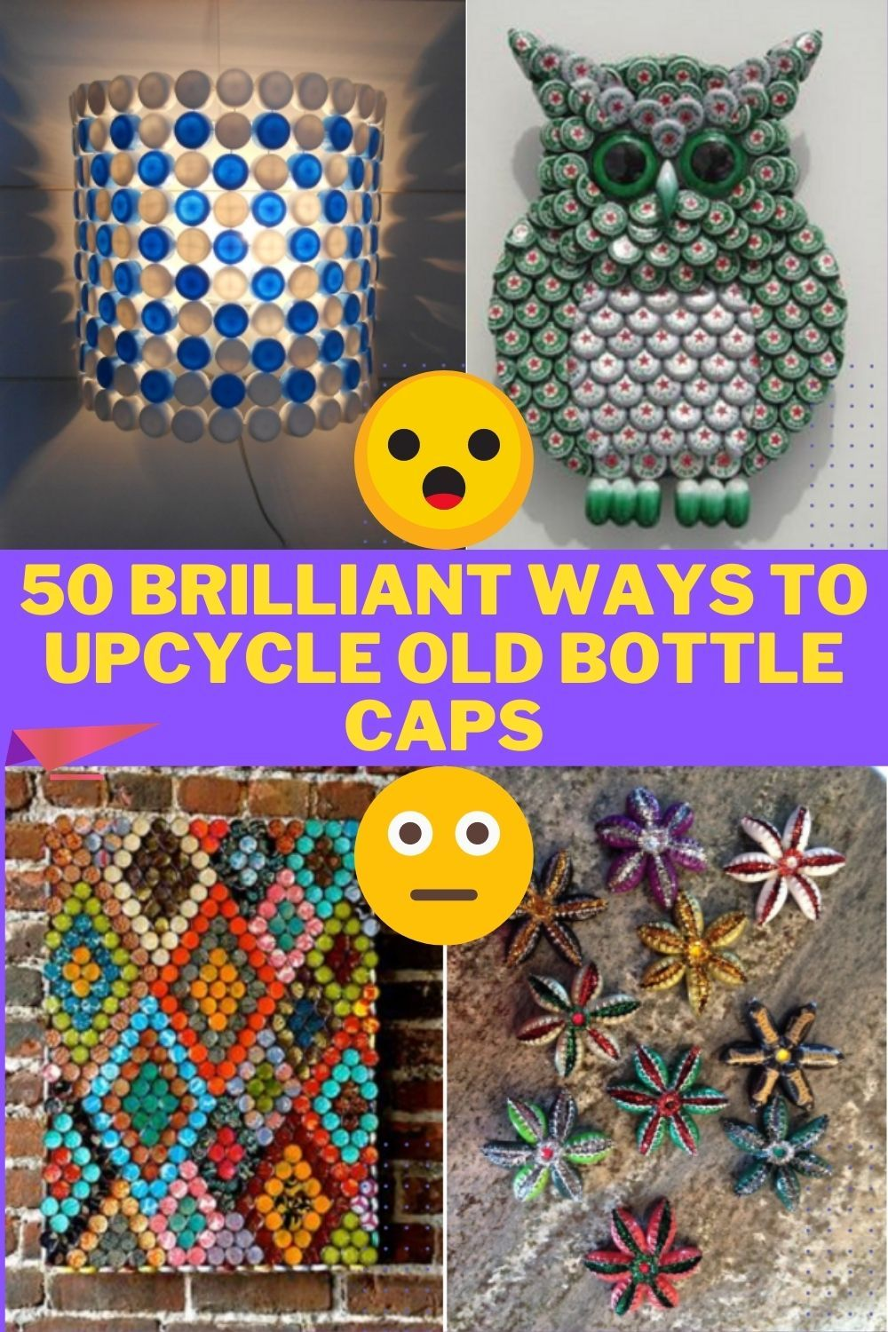 50 brilliant ways to upcycle old bottle caps