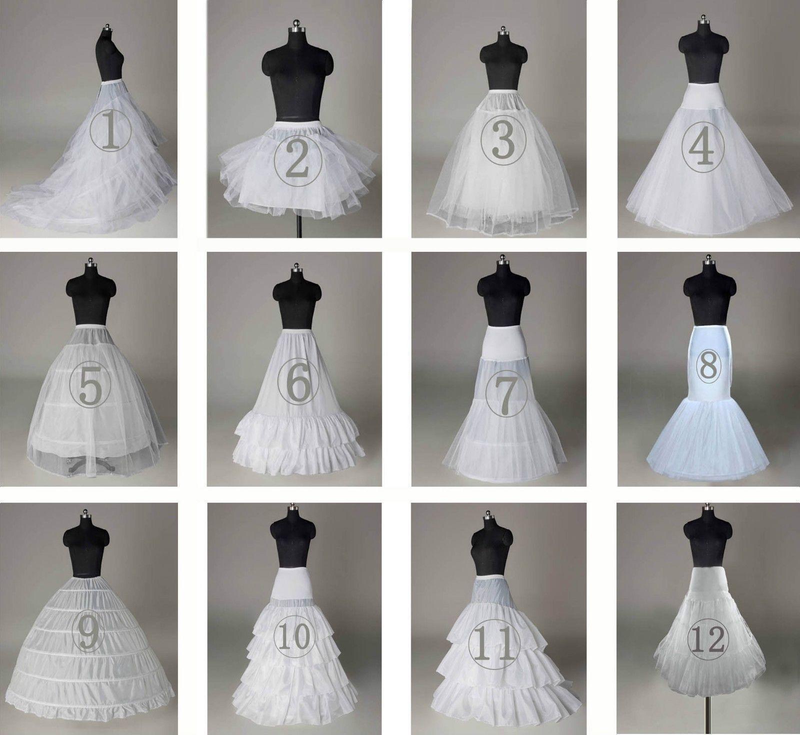 New White Net 3 6 Hoops Wedding Bridal Petticoat Underskirt Slips Crinoline In Petticoats From Wed Fancy Skirts Wedding Dress Petticoat Crinoline Wedding Dress