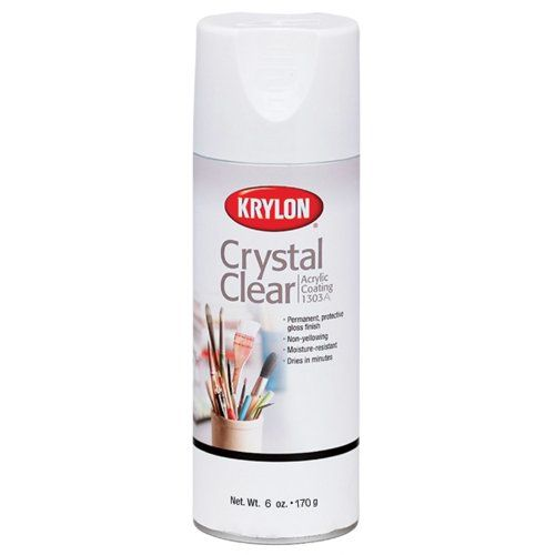 Krylon 6 Ounce Crystal Clear Acrylic Coating Aerosol Spray Arts And Crafts Spray Paint Amazon Com Krylon Crafts Clear Acrylic