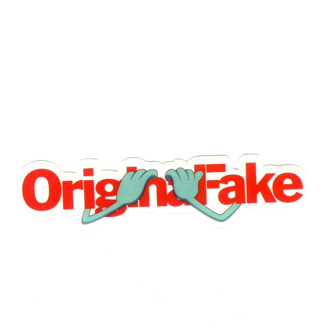 Kaws OriginalFake Red Logo X Cm Decal Sticker - Business invoice templates free kaws online store