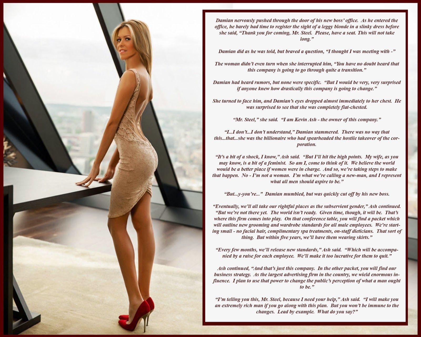 Role reversal boss woman sex