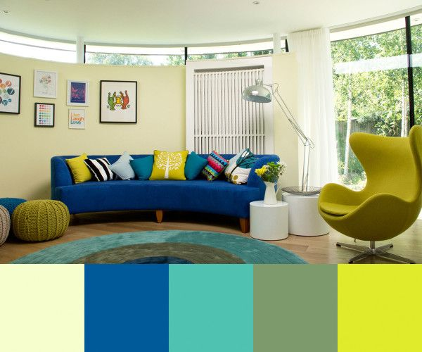 Three Mid Century Inspired Interiors By Lli Design Design Milk Blue Couch Living Room Blue Sofas Living Room Blue Couch Living