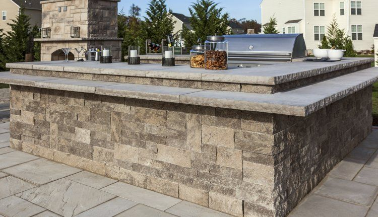 Mini Creta Architectural Techo Bloc Outdoor Kitchen Design Backyard Design Outdoor Kitchen