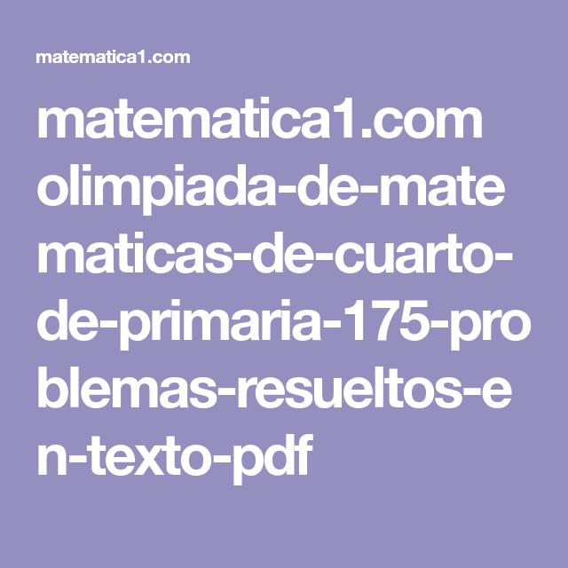 matematica1.com olimpiada-de-matematicas-de-cuarto-de-primaria-175 ...