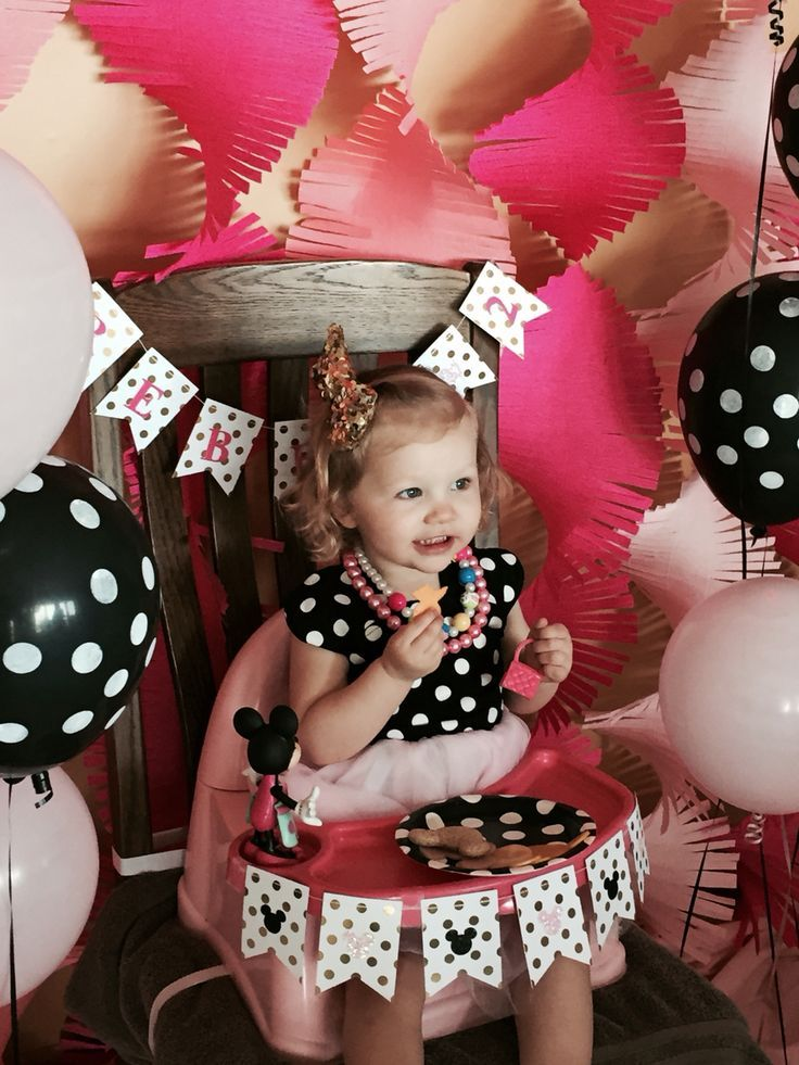 "Minnie Mouse ""Oh Twodles"" themed 2 yearold birthday"