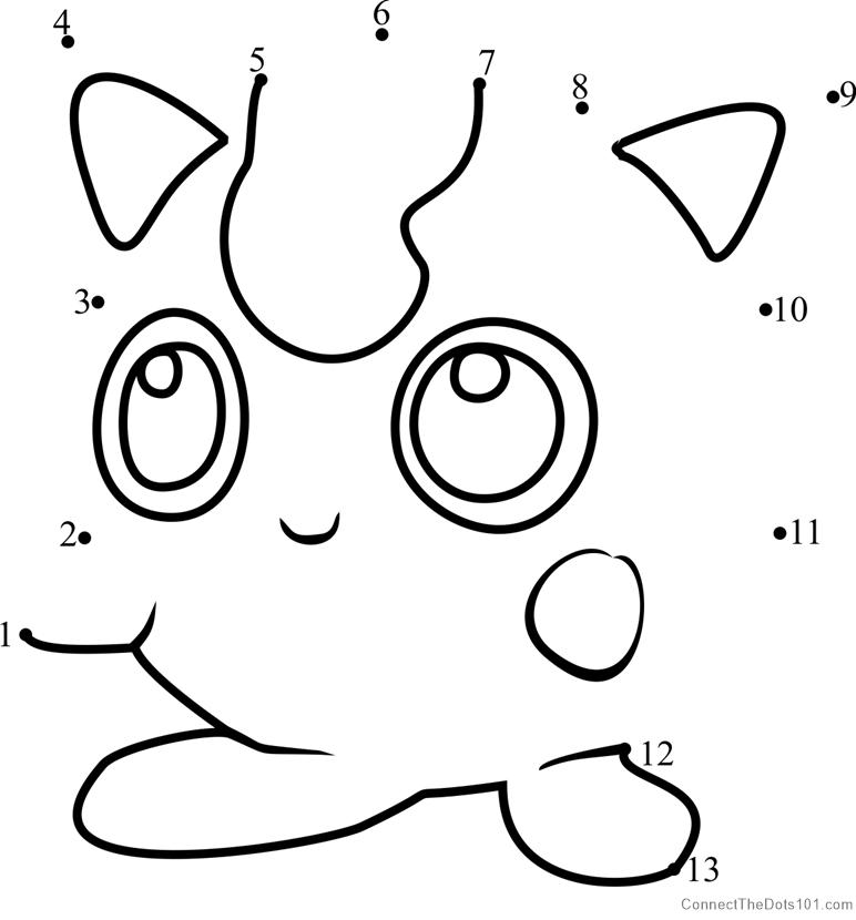 Download or print Jigglypuff Pokemon GO dot to dot printable ...