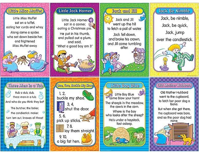Classroom Decor Posters Activities Nursery Rhymes