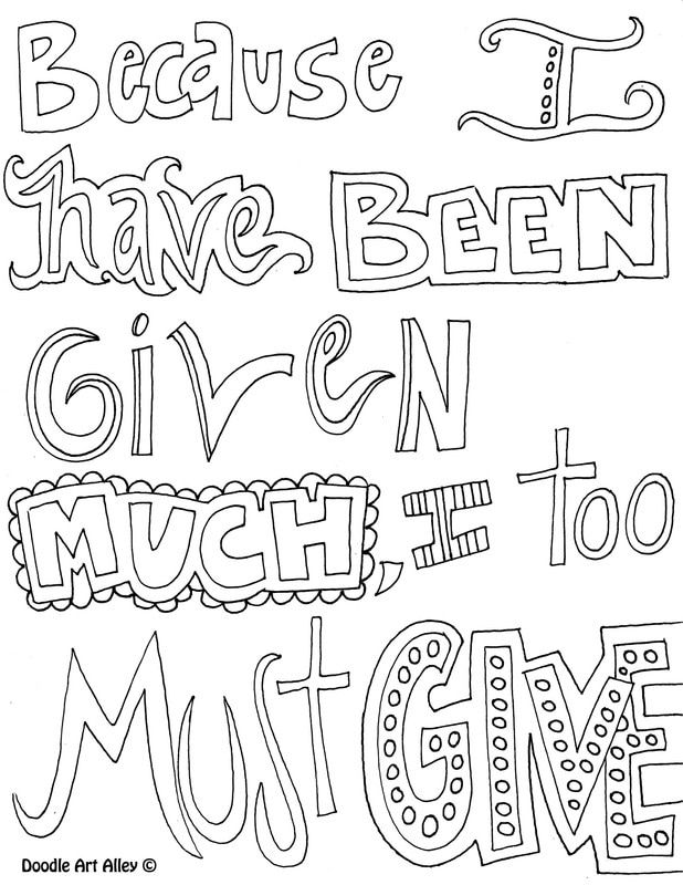 Kindness Quote Coloring Pages - Doodle Art Alley | Quote ...