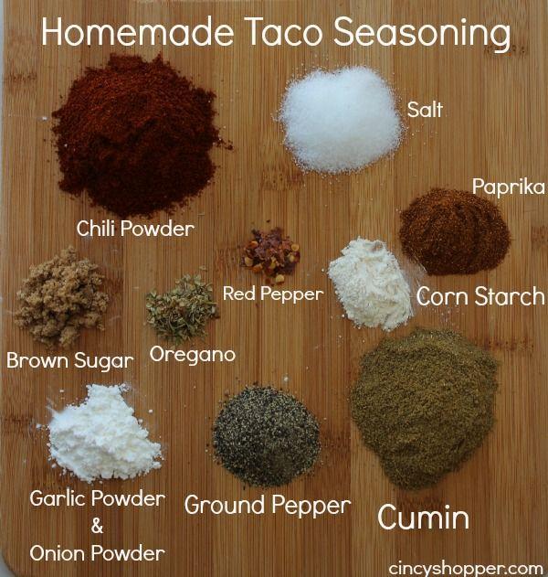 Les 25 meilleures id es de la cat gorie assaisonnement de for Assaisonnement tacos maison