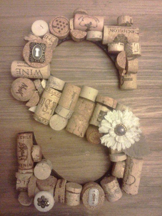 monogram cork letter by trzystar on etsy   21 50