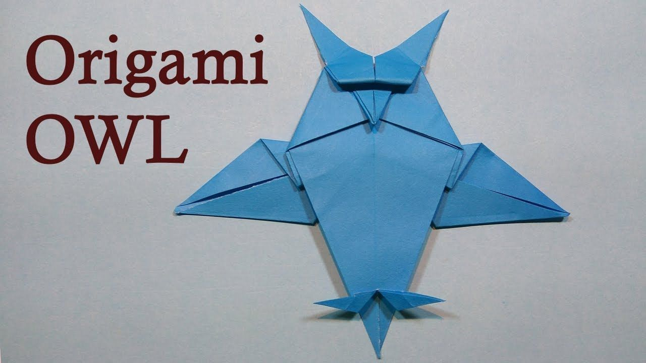 Origami Paper Owl Crafts Ideas For Kids Origami Dreaming Owl