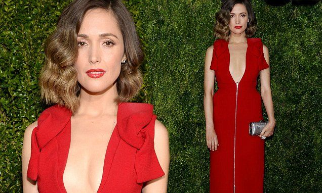 Rose Byrne takes plunging necklines to new depths at Tony Awards