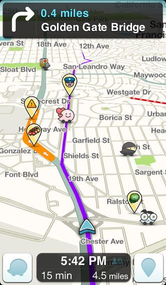 Waze is a communitybased GPS traffic and navigation app