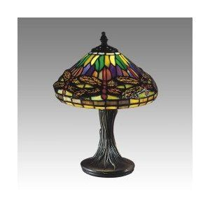 Dale Tiffany 7601 521 Dragonfly Table Lamp Antique Brass And Art Glass Shade Lamp Glass Lighting