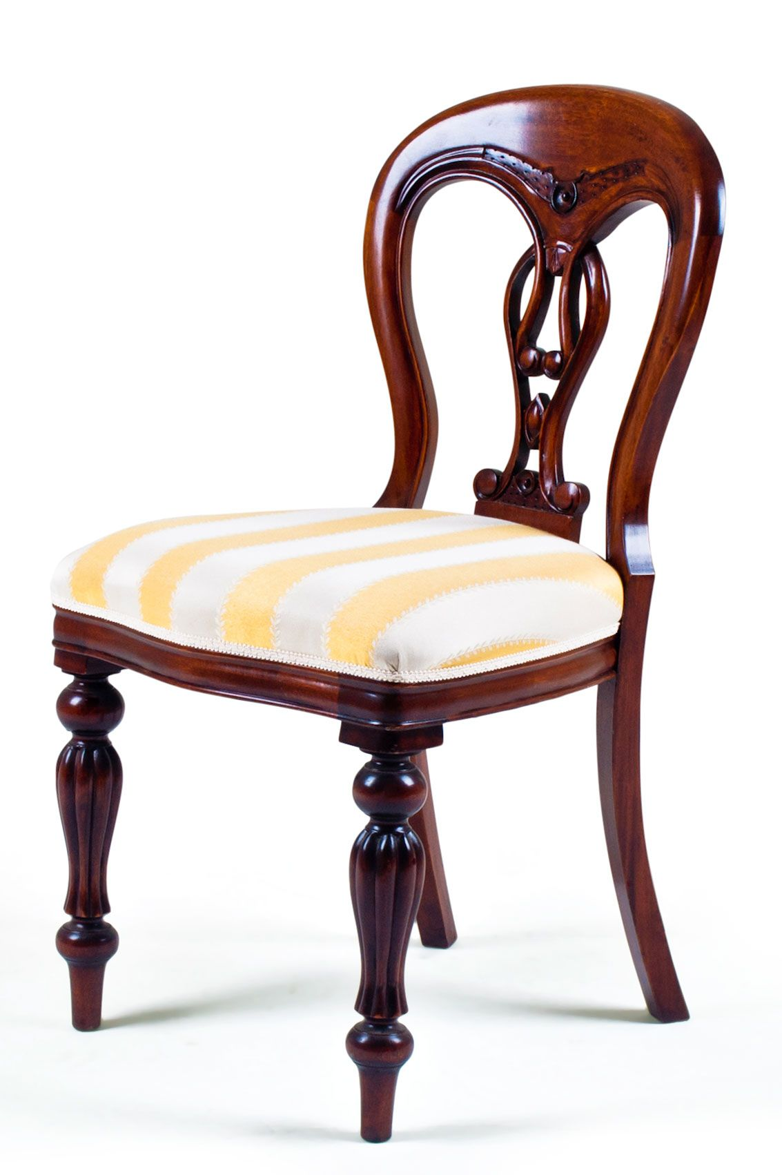 Antique victorian dining chairs - Fiddleback Dining Chair A Victorian Style Dining Chair With A Centre Splat Resembling A Fiddle