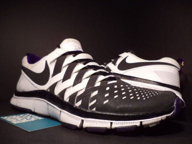 79b8b46b5a83b 2013 Nike FREE TRAINER 5.0 NFL HOF CRIS CARTER BLACK WHITE PURPLE  631640-005 11