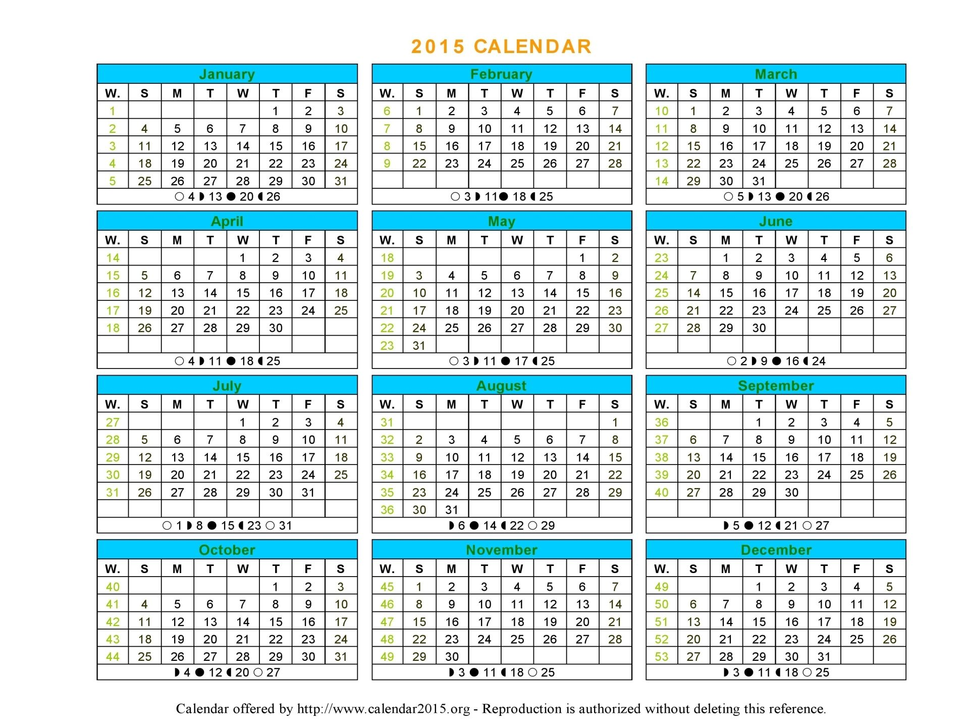 12 Month Calendar 2015 Template Montly Calendar Pinterest 12