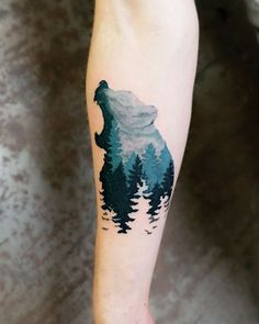 Love the color, white tree outlines at the bottom are a neat idea