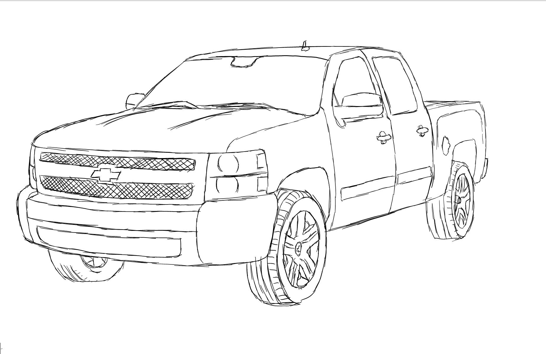 Cool lifted truck drawings the image for Jacked up truck coloring pages