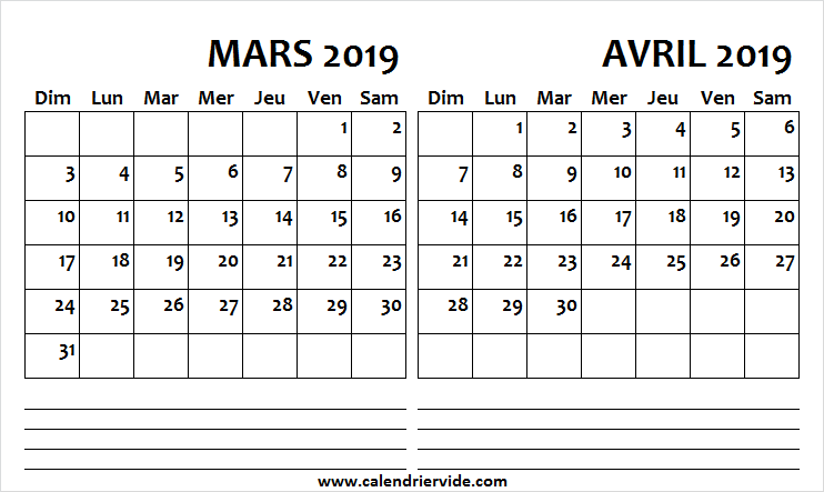 Calendrier 2019 Png.Calendrier 2019 Mars Avril March 2019 Calendar 2019