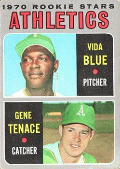 1970 Topps 21 Athletics Rookies Vida Blue Gene Tenace Front