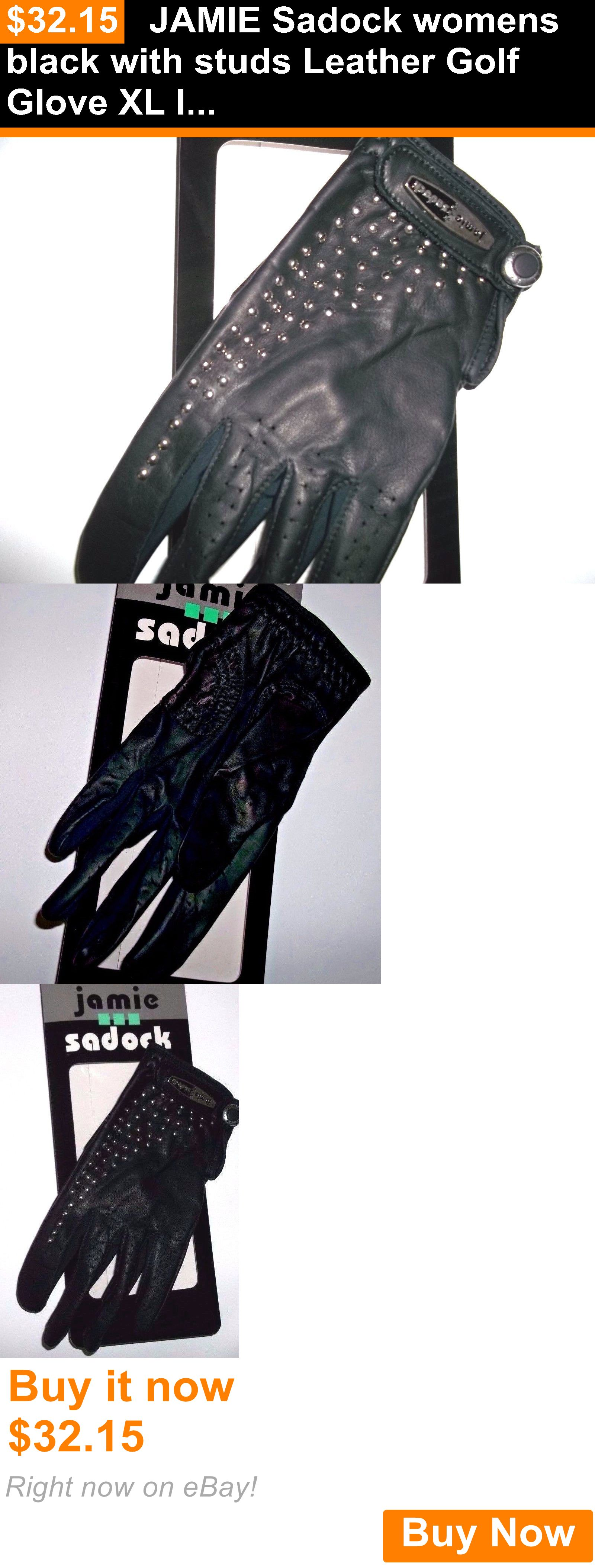 Black leather golf gloves - Golf Gloves 181146 Jamie Sadock Womens Black With Studs Leather Golf Glove Xl Left Buy It Now Only 32 15 Golf Gloves 181146 Pinterest