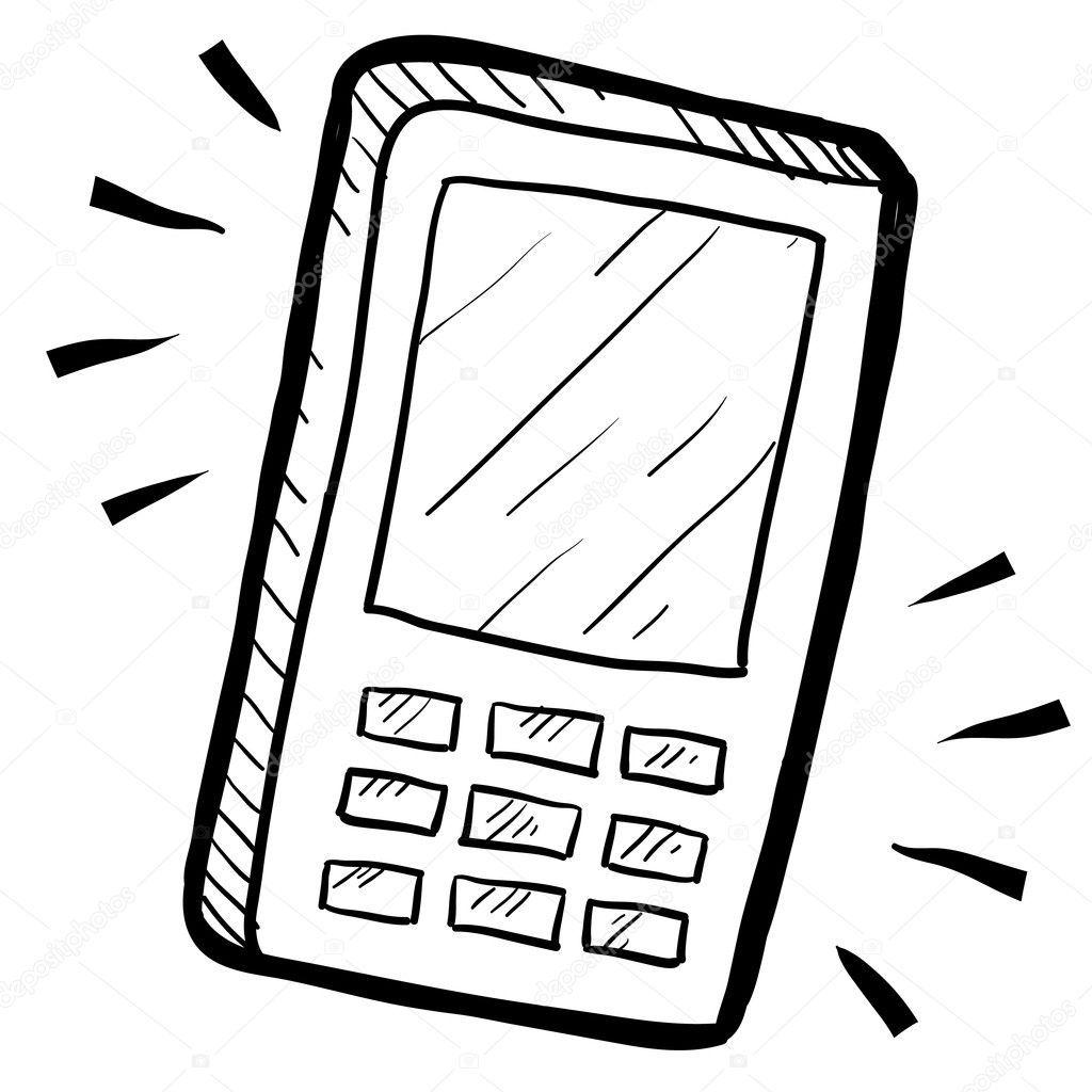 Descargue El Vector De Stock Doodle Estilo Telefono Movil O La Calculadora Ilustracion En Ilustracion Vectorial Dibujos Lindos Para Dibujar Telefonos Celulares