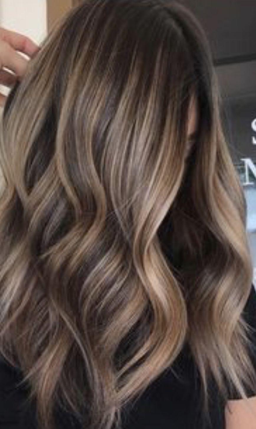 Dark Brown Hair W Light Highlights Hair Styles Hair Balayage Hair