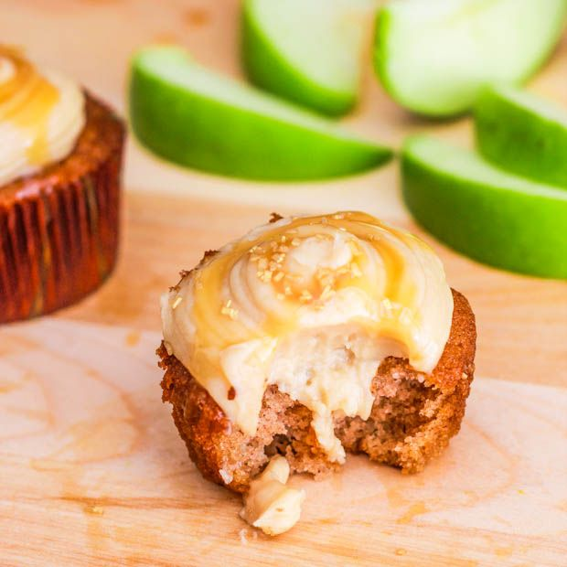 Apple Spice Cupcakes with Salted Caramel Frosting from Sally's Baking Addiction