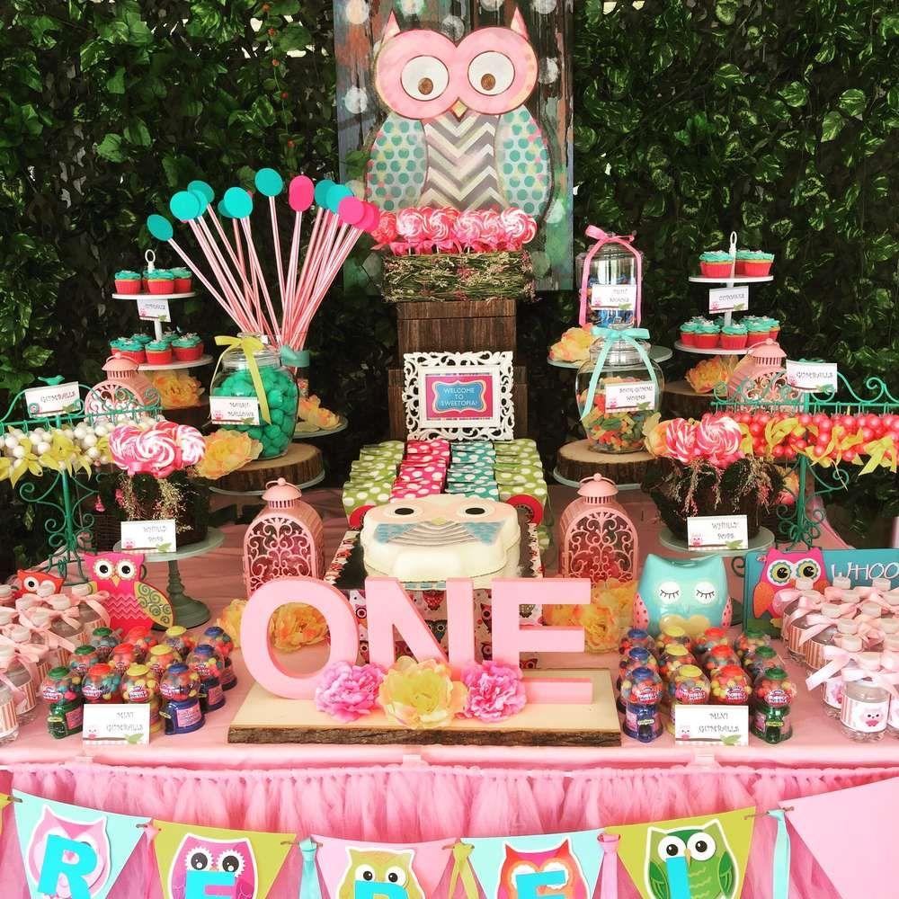 Owls Birthday Party Ideas  Photo 6 of 6  Owl birthday parties