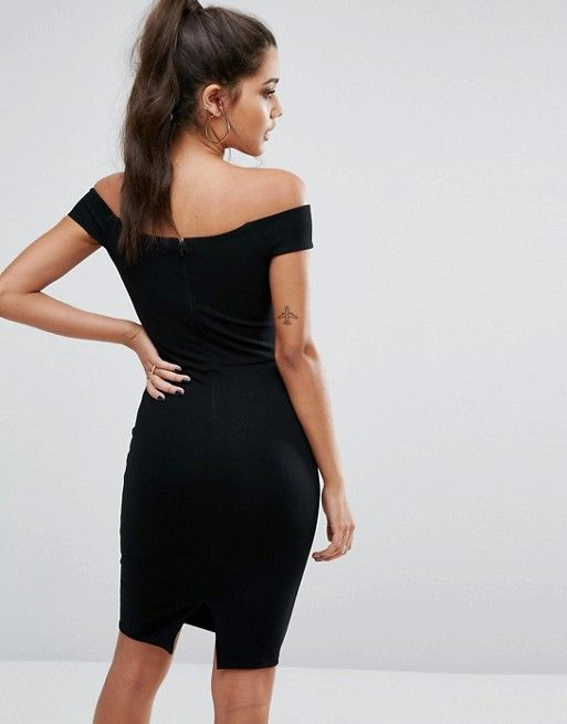Michelle Keegan Loves Lipsy Bardot Dress With Satin Panel
