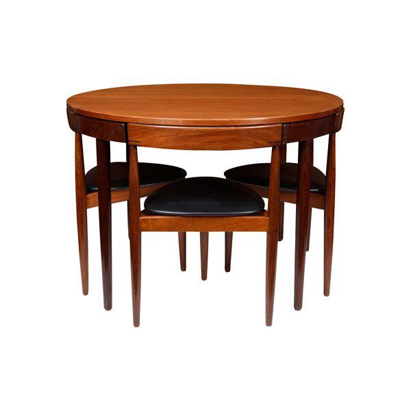 Mesa comedor redonda con 4 sillas de Hans Olsen. 1953 | Muebles ...