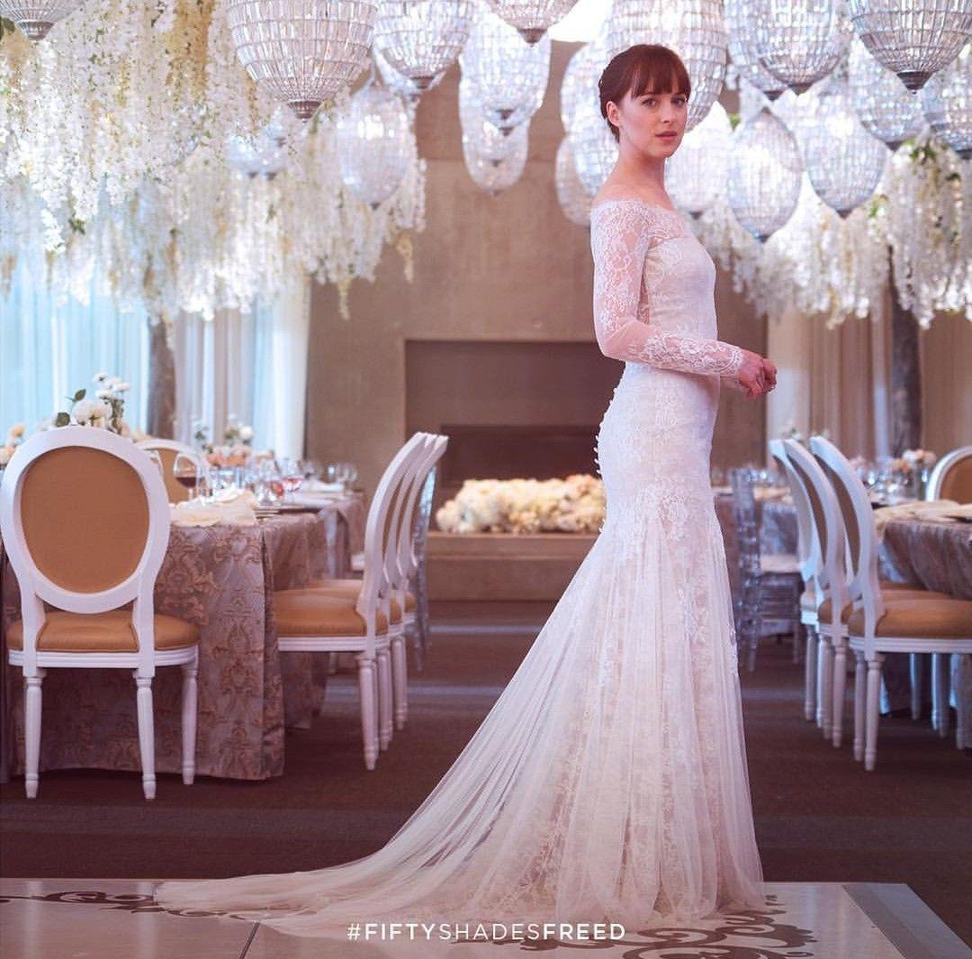 Pin By A F On Dakota Johnson Celebrity Wedding Dresses Wedding Dresses Grey Wedding Dress [ 1065 x 1080 Pixel ]