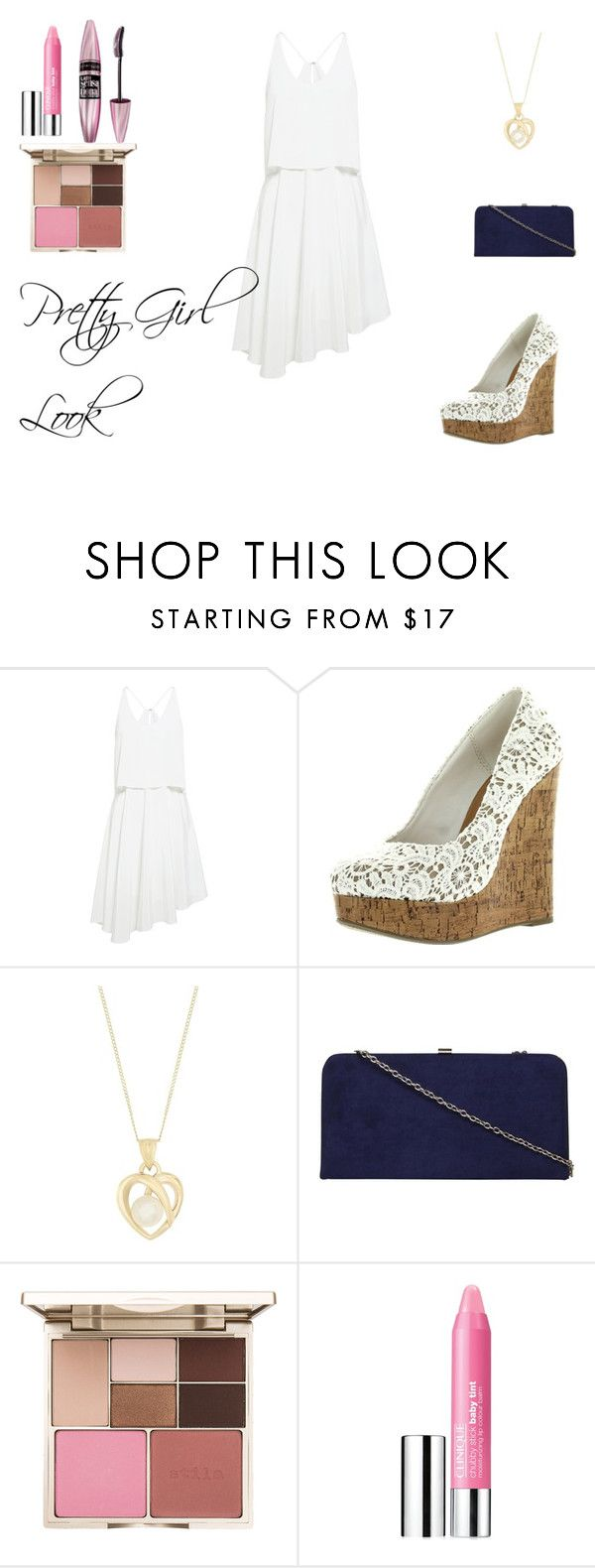 """""""Pretty Girl Look"""" by alexishannah15 ❤ liked on Polyvore featuring TIBI, Dorothy Perkins, Stila, Clinique and Maybelline"""