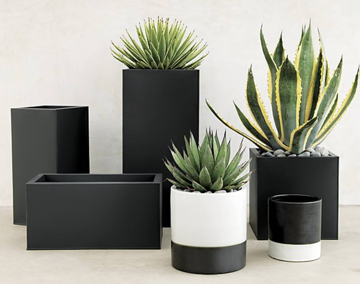 Blox Small Square Galvanized Charcoal Planter With Images 400 x 300
