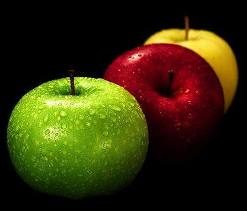 صورة تفاح اخضر و احمر و اصفر طرائف Jokes Fruit Yellow Apple Apple