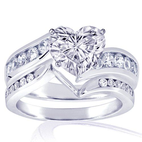 Heart Shaped Diamond Ring Set Heart Shaped Diamond Ring Heart Shaped Rings Heart Shaped Diamond Wedding Rings