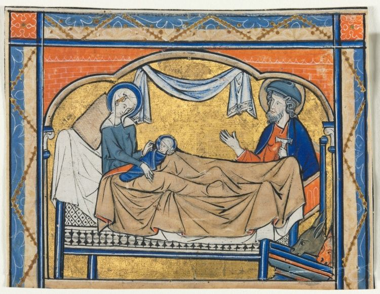 Miniature Excised from a Psalter: The Nativity | Cleveland Museum of Art, 1270